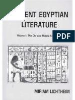 Lichtheim Ancient Egyptian Literature I