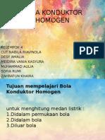 Bola Konduktor Homogen