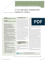 Management of Welding Operations With High Strength Steels