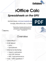 LibreOffice Calc Spreadsheets on the GPU