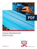 Fosroc Solutions for Waterstops Brochure