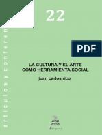 La Cultura y e Arte Como Herramienta Social P