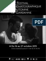 Programme Festival Gardanne 2015