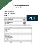 Accelerometers Report