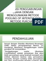Akuntansi Penggabungan Usaha Dengan Menggunakan Metode Pooling Of