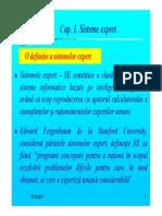 Prezentare Capitolul 1 Sisteme Expert