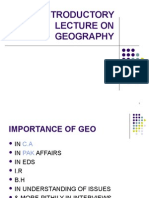 Introductory Lecture on Geography