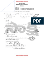 IIT JEE Physics Questions