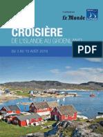 Croisière de l'Islande au Groenland