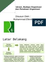 Perilaku Birokrasi Budaya Organisasi Birokrasi Dan Penataan