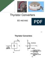 EE 442 642 Thyristor Rectifiers