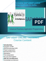 The Affordable SAP ABAP online training institute in india.