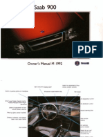 Saab900cv Owners Manual 92[Opt]