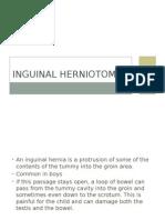 Inguinal Herniotomy