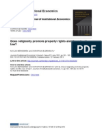 Does Religiosity Promote Property Rights and the Rule of Law