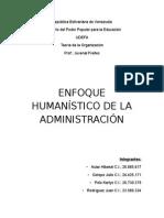 Enfoque Humanistico de la Administracion