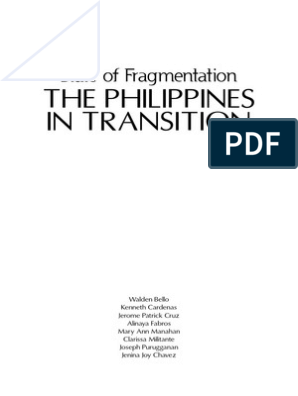 The Philippines In Transition: State Of Fragmentation