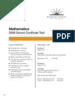 2009 SCT Maths