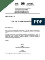 Ligji per Planifikimin Hapësinor
