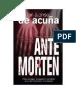 Acuña, Juan Alonso de - Antemorten