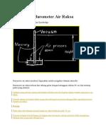 Prinsip Kerja Barometer Air Raksa
