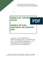 Modelo de Informe Social Pia 2007