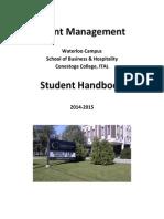 2014-2015 Event Management Student Handbook