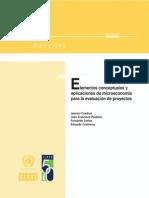 77 Elementos Conceptuales y Aplicaciones de Microeconomía Para La Evaluación de Proyectos