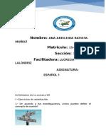Actividades de La Semana VII (1) Español 1 Ana