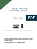 2012 2013 Questionnaire
