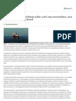 Produção Da Petrobras Sobe 1,2% Em Novembro, Aos 2,342 Milhões de Boed