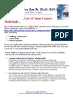 Grotzinger UnderstandingEarth6e 1429219513 Studentregistrationhandout
