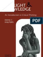 Thought and Knowledge - An Introduction to Critical Thinking