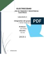 Laboratorio de Electricidad resistencia electrica