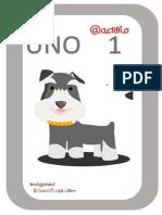 Tarjetas Números Perritos Imagenes Educativas