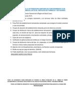 Autorizacion sanitaria requisitos