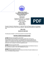 Medford City Council Agenda October 20, 2015