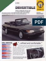 Saab 900 Convertible 86 93 [Ocr]