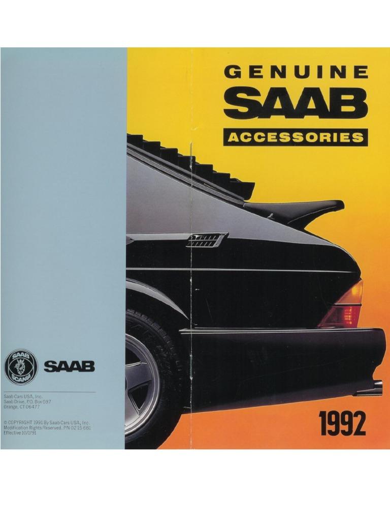 1992 saab 900 wiring harness 1992 saab accessories catalog  ocr  trailer  vehicle  1992 saab accessories catalog  ocr