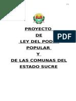 Proyecto de Ley Estadal Del Poder Popular y Las Comunas Del Estado Sucre