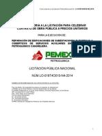 Convocatoria a La Lic Lo-018t4o010-n4-2014 Cangrejera,Rep.de.Edific.sub.Elec.