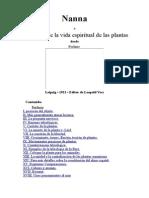 Nanna o Acerca de La Vida Espiritual de Las Plantas -Castellano-Gustav Theodor Fechner