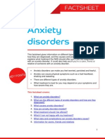 Anxiety Disorders Factsheet