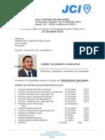 Inscripción de Candidatura PN JCI Ecuador 2015 - DGD