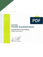 Forrester Groundswell Award 2009