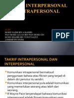 Takrif Interpersonal Dan Intrapersonal