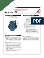 Kubota d722-e3b - Specifications
