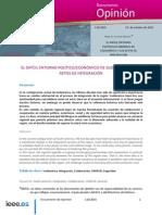 El Dificil Entorno Politico Economico de Sudamerica y Los Retos de La Integracion