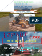 MOTONIVELADORA. 2 informe