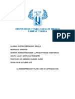 Resumen Admon y Planeacion de La Produccion